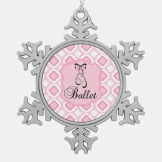 Ballett-Schuhe Schneeflocken Zinn-Ornament