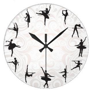 Ballett-Schulballerina-Tanz-Wanduhr Uhren