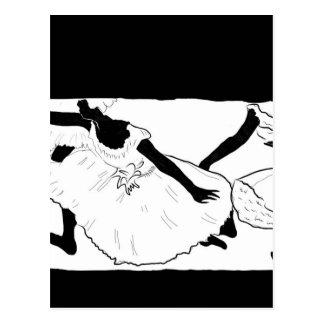 Ballett-Tänzer (entgasen Sie) Postkarte