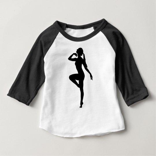 Ballett-Tänzer-Silhouette Baby T-shirt