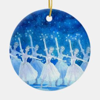 Ballett-Verzierung - Tanz der Schneeflocken Keramik Ornament