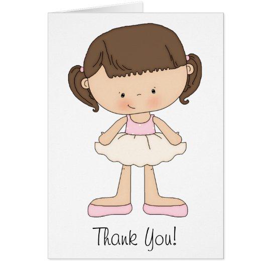 Balletterwägungsgrundenkarten und danken Ihnen Mitteilungskarte