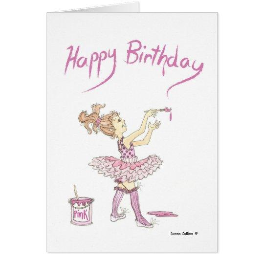 Ballettröckchen-Mamma, Geburtstags-Karte Karte