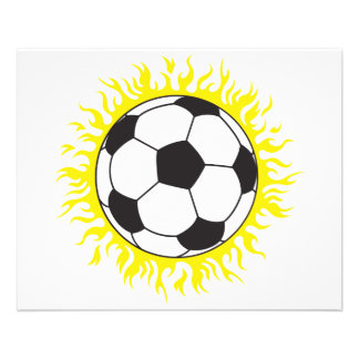 ballon de football chaud prospectus 11,4 cm x 14,2 cm