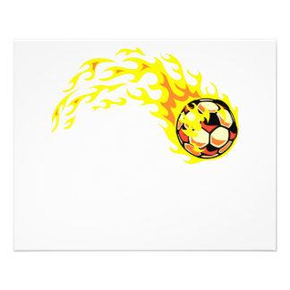 Ballon de football de Flamin' Prospectus 11,4 Cm X 14,2 Cm