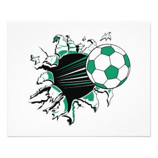 ballon de football déchirant prospectus 11,4 cm x 14,2 cm