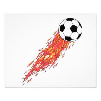 ballon de football du feu de flammes prospectus
