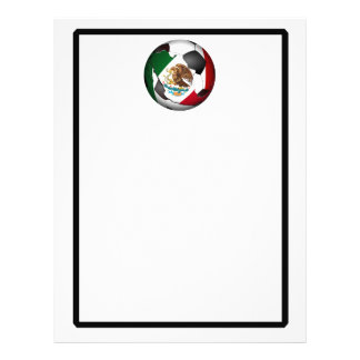 Ballon de football du Mexique Prospectus 21,6 Cm X 24,94 Cm