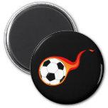 Ballon de football flamboyant magnets pour réfrigérateur