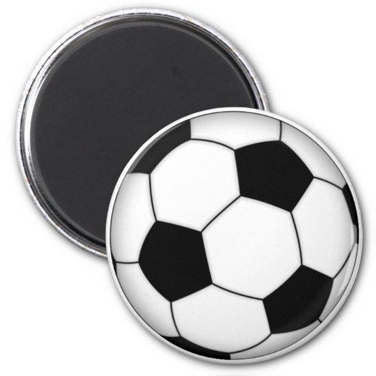 Ballon de football magnet rond 8 cm