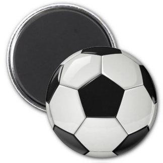 Ballon de football réaliste et frais magnet rond 8 cm