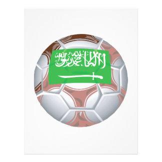 Ballon de football saoudien prospectus en couleur