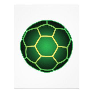 Ballon de football vert prospectus en couleur