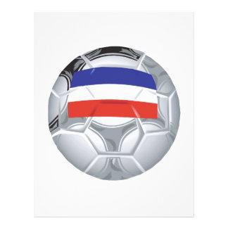 Ballon de football yougoslave tract customisé
