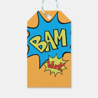 """Ballon des Comic-Buch-""""Bam"""" Geschenkanhänger"""