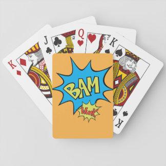 """Ballon des Comic-Buch-""""Bam"""" Pokerkarten"""