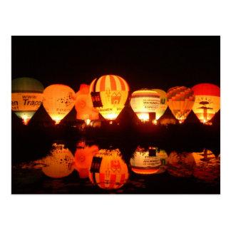 Ballon glow-2 postkarte