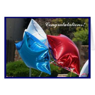 Ballon-Grußkarte der Glückwünsche patriotische Grußkarte