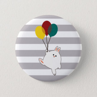 Ballon-Häschen Runder Button 5,1 Cm