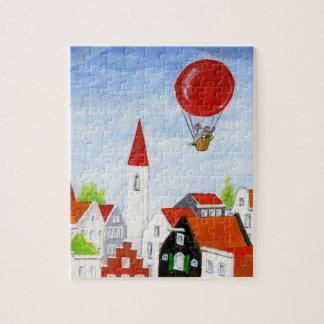 Ballon-Mäuse-u. Dach-Puzzlespiel