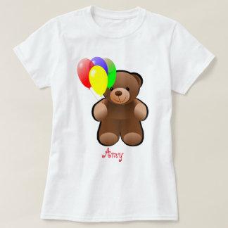 Ballone drucken personalisierten Teddy-Bären T-Shirt