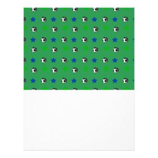 Ballons de football et étoiles verts prospectus personnalisés