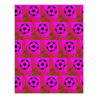 Ballons de football fuchsia tract customisé