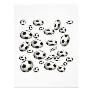Ballons de football prospectus avec motif