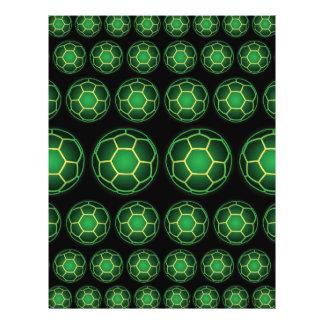 Ballons de football verts tract customisé