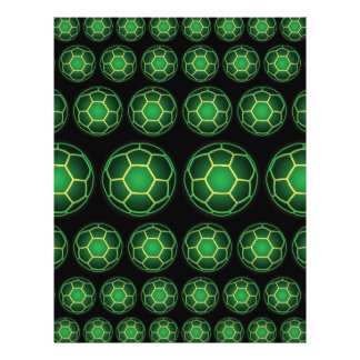 Ballons de football verts prospectus 21,6 cm x 24,94 cm