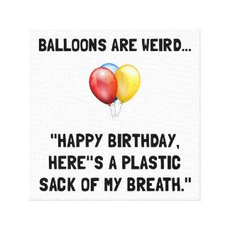 Ballons étranges toile tendue
