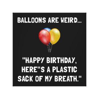 Ballons étranges toiles tendues