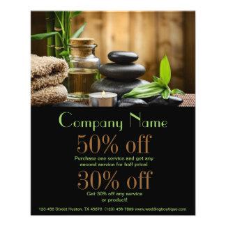 bambooSPA Produkt-Schönheitssalongeschäft 11,4 X 14,2 Cm Flyer