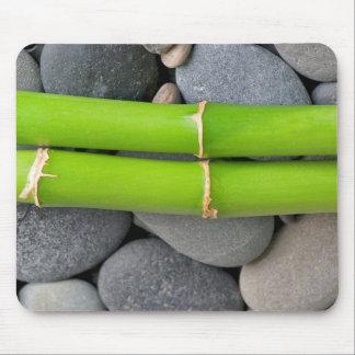 Bambus und Kiesel Mauspads