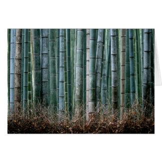 Bambuswald, Japan Mitteilungskarte