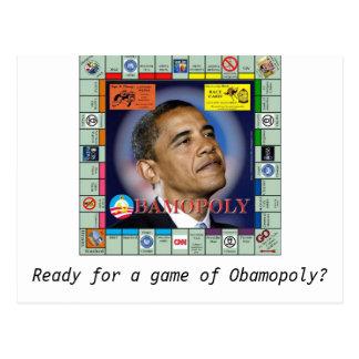 bamopoly bereiten Sie für ein Spiel von Obamopoly Postkarte
