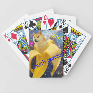 Banane   - Doge - shibe - Raum - wow Doge Bicycle Spielkarten