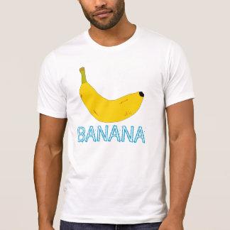 BANANE UND BLAUER TEXT T-Shirt