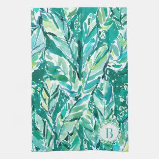 BANANEN-BLATT-DSCHUNGEL Grün tropisch Handtuch