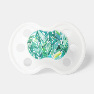 BANANEN-BLATT-DSCHUNGEL Grün tropisch Schnuller