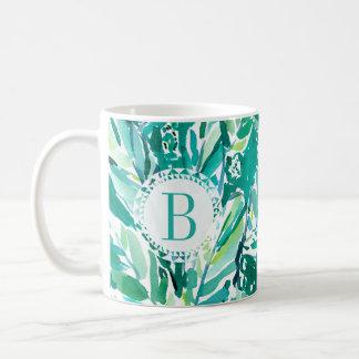 BANANEN-BLATT-DSCHUNGEL Grün tropisch Tasse