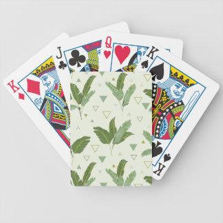 Bananen-Blatt mit Dreiecken Bicycle Spielkarten