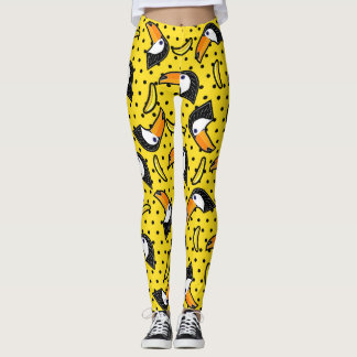 Banana & Bird Polkadots Yellow Black Summer