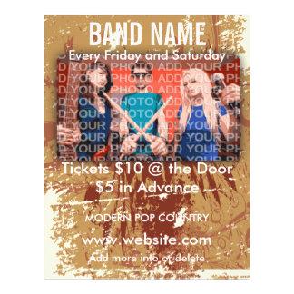 Band-Namensmusik-Flyer 21,6 X 27,9 Cm Flyer