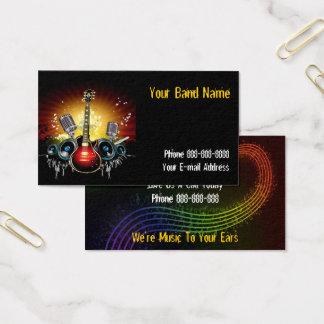 Band-Sänger-Visitenkarte Visitenkarte