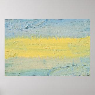 Band Sonnenlicht-des abstrakten Dekordruckes Poster