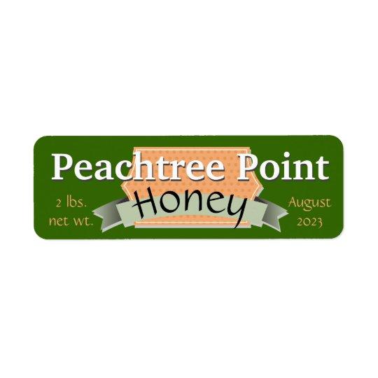 Band-und Fahnen-personalisiertes Honig-Glas Rücksendeetiketten