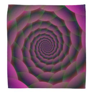 Bandana-Seil-Spirale in lila Rotem und grün Kopftuch