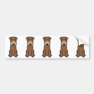 Bande dessinée de chien de Terrier irlandais Autocollant De Voiture