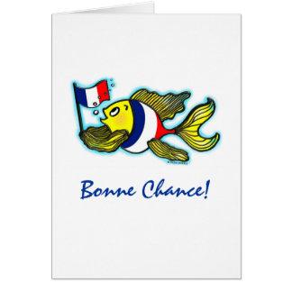 Bande dessinée drôle de poissons français de carte de vœux